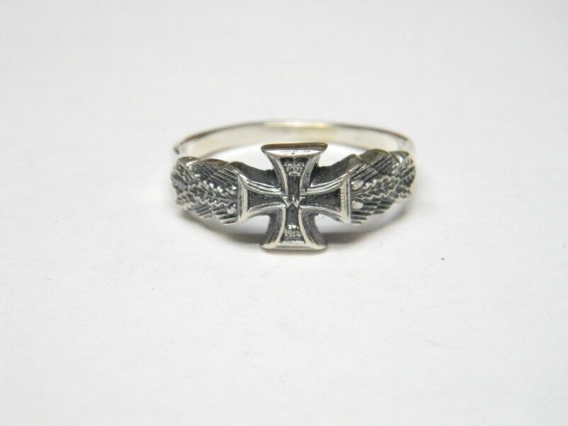 WW I GERMAN Iron Cross Sterling Silver Ring