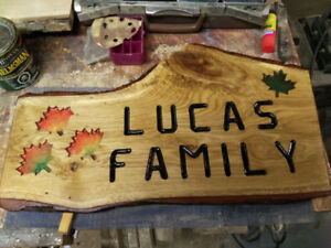 Name & Cottage Signs router in wood