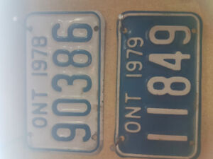 Looking for old motorcycle plates