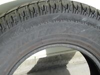 Winter Claw tires with snowflake