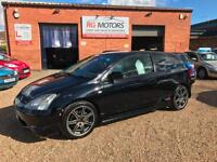 2002 Honda Civic 2.0i Type R Black 3dr Sports Hatch, **ANY PX WELCOME**