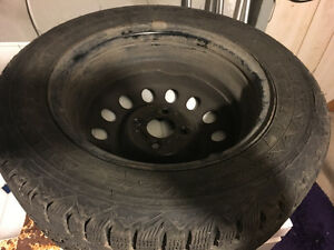 4 New Tires with Rims: Firestone Winter Force Regina Regina Area image 3
