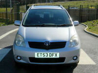 2004 Toyota Corolla Verso 2.0 D-4D T Spirit 5dr WITH 1 OWNER FROM NEW+SATNAV++