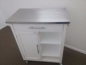 LIKE BRAND NEW GREAT STORAGE WITH BRUSHED STAINLESS STEEL TOP