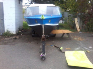 1987 resort aluminum boat with 55hp evinrude