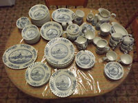 "Antique Fine Dining Ironstone Dishes ""Tulip Time"" by Johnson Bro"