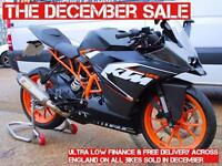 2016- KTM RC125, AKRAPOVIC, UNDER 100 MILES FROM NEW, £3,250 OR FLEXIBLE FINANCE