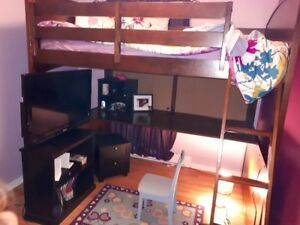 Bunk Bed double size with desk underneath