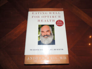 "Andrew Weil Hardcover ""Eating Well for Optimum Health"""