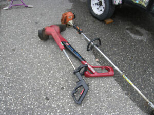 4 gas operated trimmers Stihl, Toro.