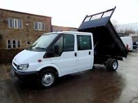 2006 FORD TRANSIT TIPPER, CREW CAB, COMPANY OWNED, STEEL BACK, DROPSIDE, D/C