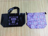 Anna sui mini bag with purple flower drawstring pouch