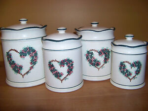 Country Style Kitchen Canisters-(Set of 4)
