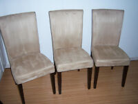 3 Parson Dining Chairs