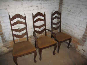 3-4 Dining table chairs, needs significant work