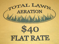 """TIME FOR FALL AERATION """"Fall is the best time to aerate"""""""