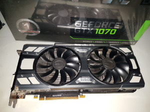 EVGA GeForce GTX 1070 8GB with 1920 Pascal CUDA cores