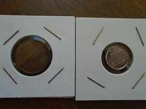 2 pieces de monnaie 5-10 CENT BEATRIX Nederland Pays BAS