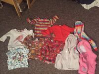 Girls tops and cardigans 6-9 months