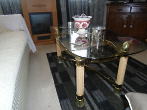 Lovely glass top coffee table