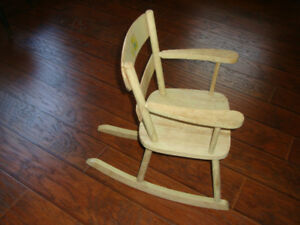 Child's Wooden Rocker