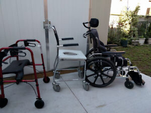 Wheel Chair, Shower Chair, Toilet Chair, and Walkers For Sale