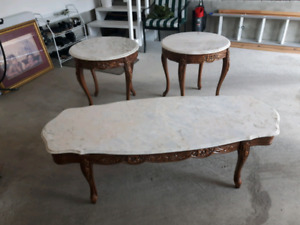 Priced to sell - Marble table set
