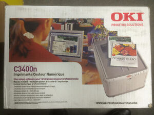 Okidata C3400n Color Laser Printer - Laser, 1200 x 600 DPI
