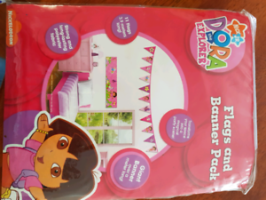 Dora the Explorer birthday party bunting and banner Currans Hill Camden Area Preview