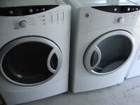 GE front load washer and dryer 600.00, white, electric, delivery