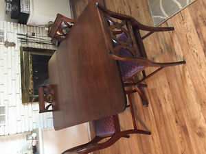 Antique dining room drop leaf table