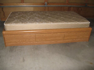 2 Twin Captains Beds with Mattresses