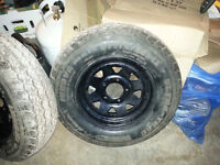 2 trailer rims/tires 185/80/13  C load rated.