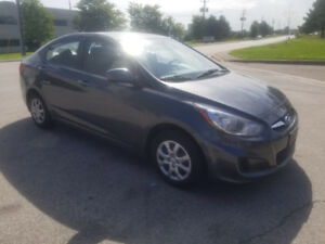 2013 Hyundai Accent BASE, certified +1 year Free warranty