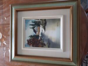 Oeuvre d'artiste peintre 40$ chacune