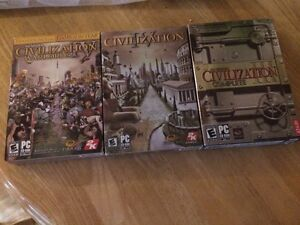 """Used 3 boxed set """"civilization 3&4"""" MINT CONDITION"""