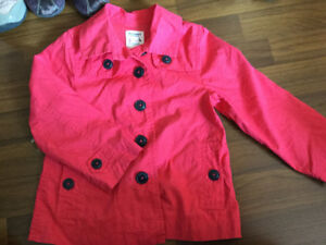 Girls Pink Button up Jacket size 4