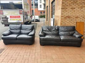 18. 2+2 leather sofa