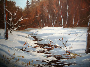 "Listed,Heinz V. Pundleider ""Creek In Merivale"" Original Oil 1978 Stratford Kitchener Area image 3"