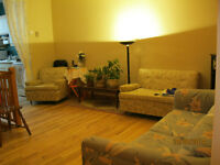 Villeray, Big 3 ½+basement+driveway, lower duplex, sunny, Sublet