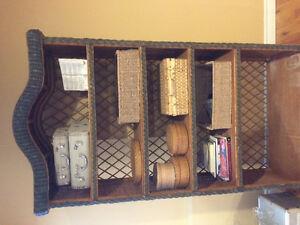 Vintage wicker shelf