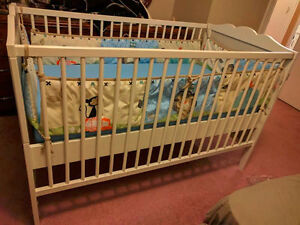 Ikea Crib, Mattress, Sheets and Bumpers - Immaculate and Clean