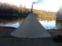Tipi and wood stove