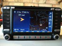GENUINE VW MFD 2 SILVER SATNAV SAT NAV VW GOLF EOS PASSAT SCIROCCO LEON SKODA VRS GTI R32 CHEAP!!