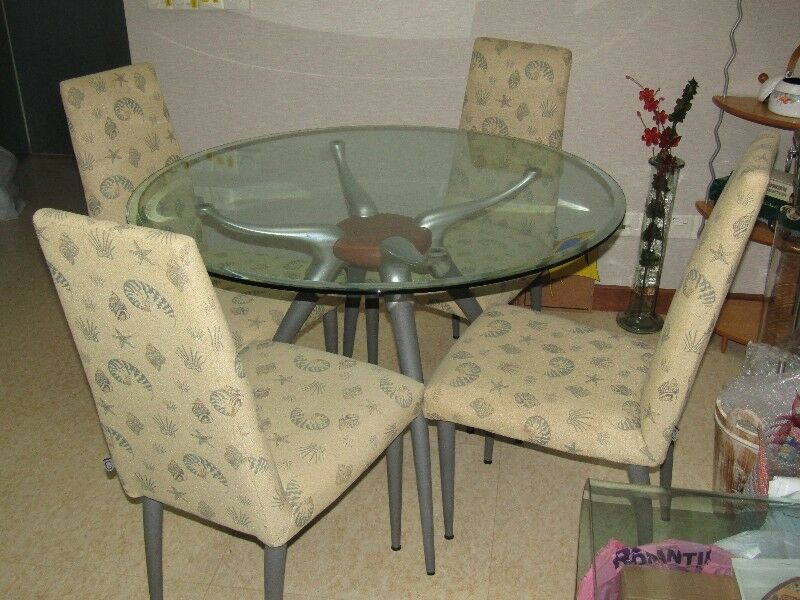 Cellini Dining Set (Round Table with 4 Chairs)