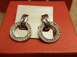 NEW Coach Diamond Circle Stud Earrings