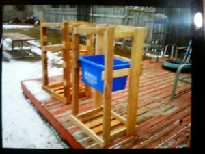 Recycle Bin Stackers. Holds 3. New Wood & Hardware