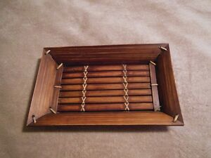 Beautiful hand crafted Indonesian bamboo tray