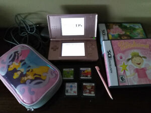 Nintendo DS Lite Pink with 6 games