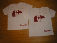 2 - Size 2 Toddler CANADA T SHIRTS - BRAND NEW